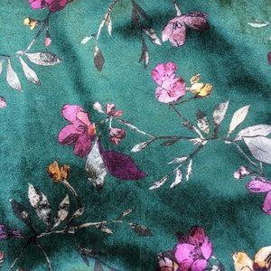 Zara Bottoms - Zara Velvet Flora Patterned Leggings